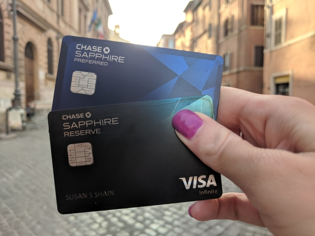 Rocking the Chase Sapphire cards in Italy