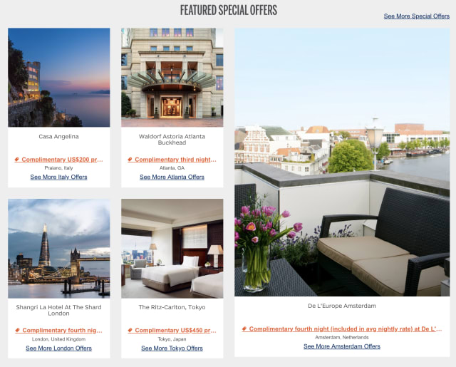 Amex Platinum benefits at Fine Hotels & Resorts collection