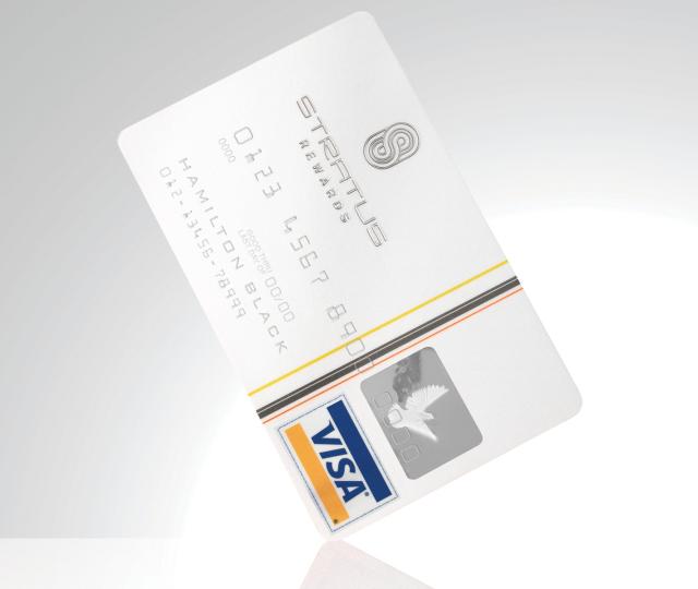 Stratus White Card.