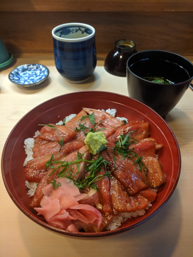 Tuna sashimi in Japan