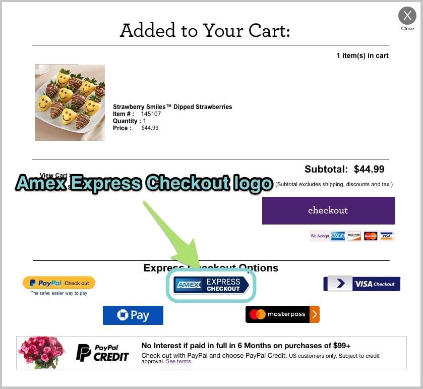 The Amex Express Checkout logo.