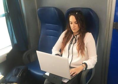 DUO porta documenti usato in treno