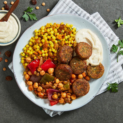 Calories in My Muscle Chef Falafel Buddha Bowl with Chickpeas and Tahini