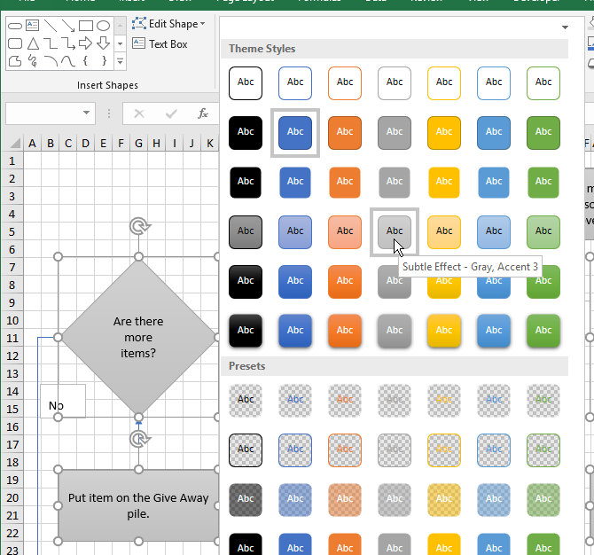 Create Awesome Flowcharts In Excel