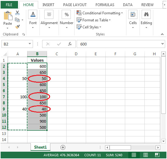 How to Skip Blanks in Microsoft Excel