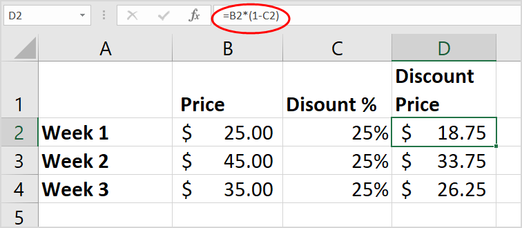 How To Use Calculate Percentage Discount In Excel