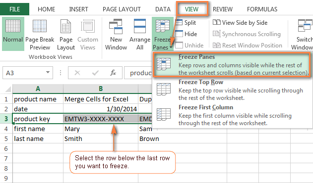 How To Freeze Panes To Lock Rows Or Columns