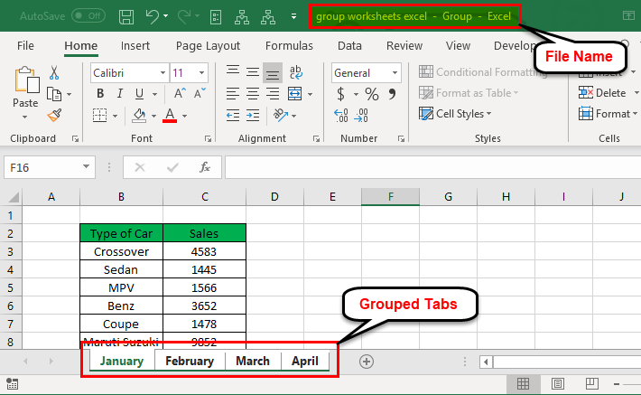 How To group worksheets in Excel if you want to edit multiple worksheets
