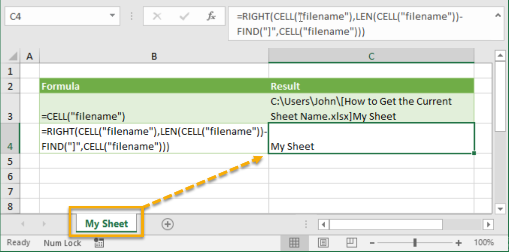 How To Return Sheet Name In A Cell