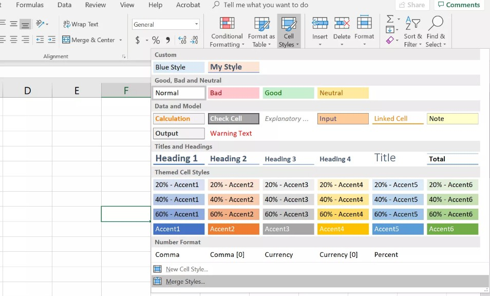 How to Use Cell Styles Format Excel Spreadsheets