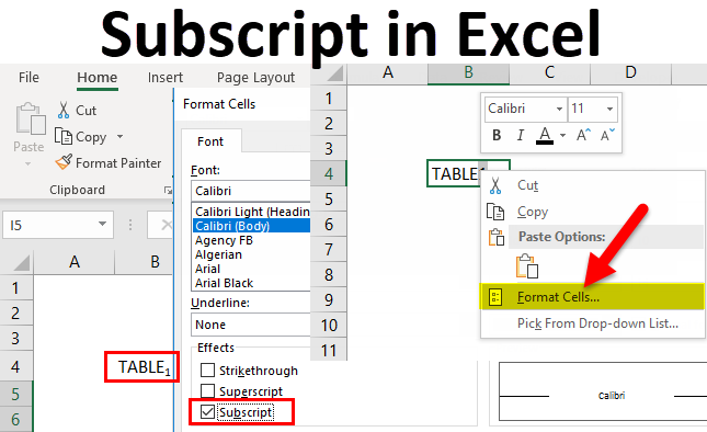 How To Easy Use Superscript And Subscript in Excel