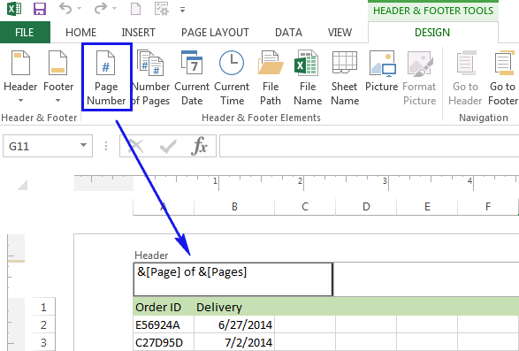 How To Print An Excel With Page Numbers