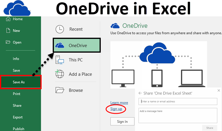 How To Save your Excel files to OneDrive in Excel