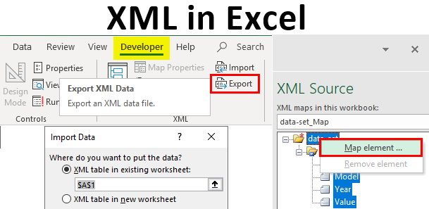 How to Convert an Excel File to XML data file
