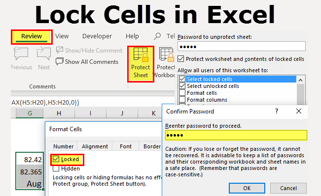 How to Lock Cells for Editing and Protect in Excel