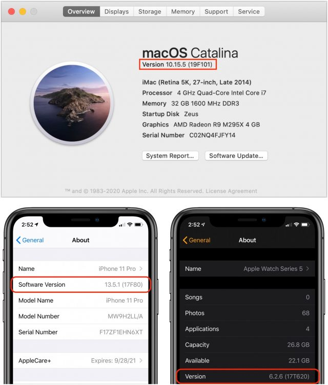 Decode Apple Version and Build Numbers