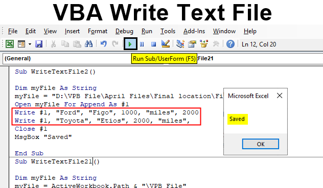 How to Write Data to Text File in Excel