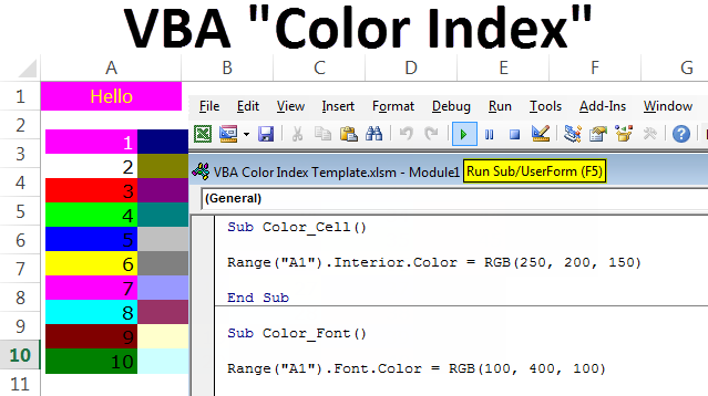 How To Set The Background Color(VBA) In Excel