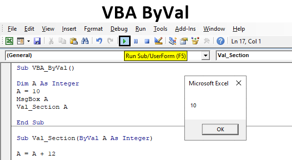 How To Use Excel VBA Macros - Byref And Byval