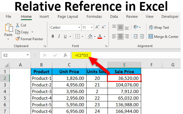 How To Use Relative References In Excel