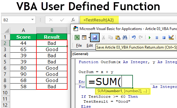 How to Create User Defined Function In Excel
