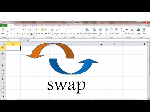 How To Quickly Swap Values In Excel