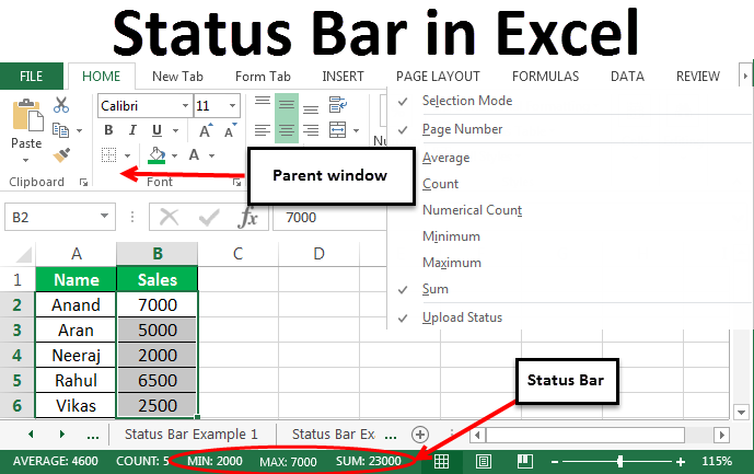 How to Customize Excel Status Bar In Excel