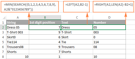 How To Split Text String At Specific Character In Excel