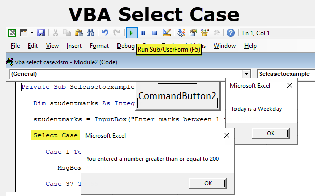 How To Use Excel VBA Select Case