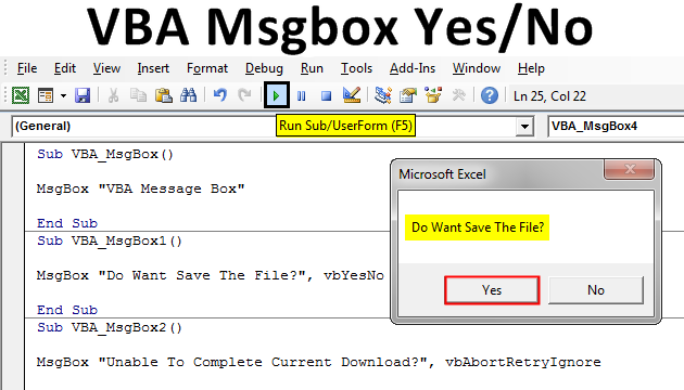 How to use the Message Box Function in Excel