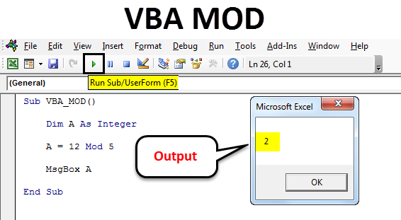 How To Use Mod Operator In Excel