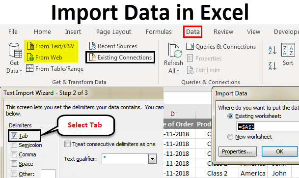 How to import data In Excel VBA