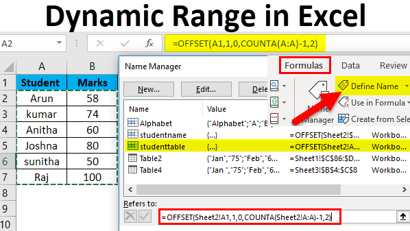 How To Use VBA Dynamic Range In Excel