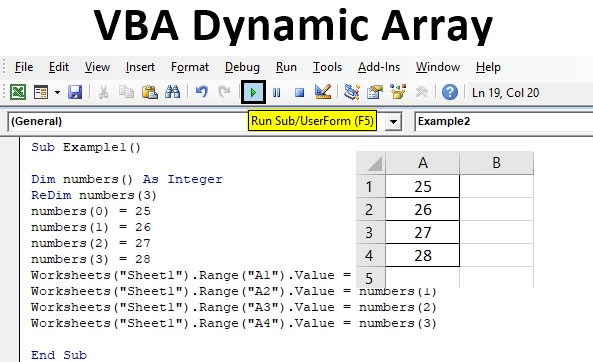 How To Use VBA Dynamic Array In Excel
