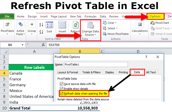 How to Refresh or Update a Pivot Table In Excel