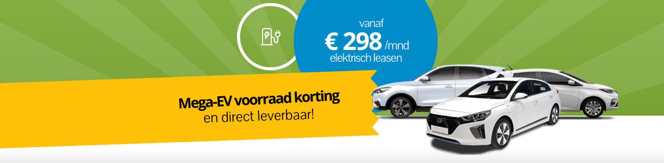 DirectLease Elektrische auto voorraad korting!