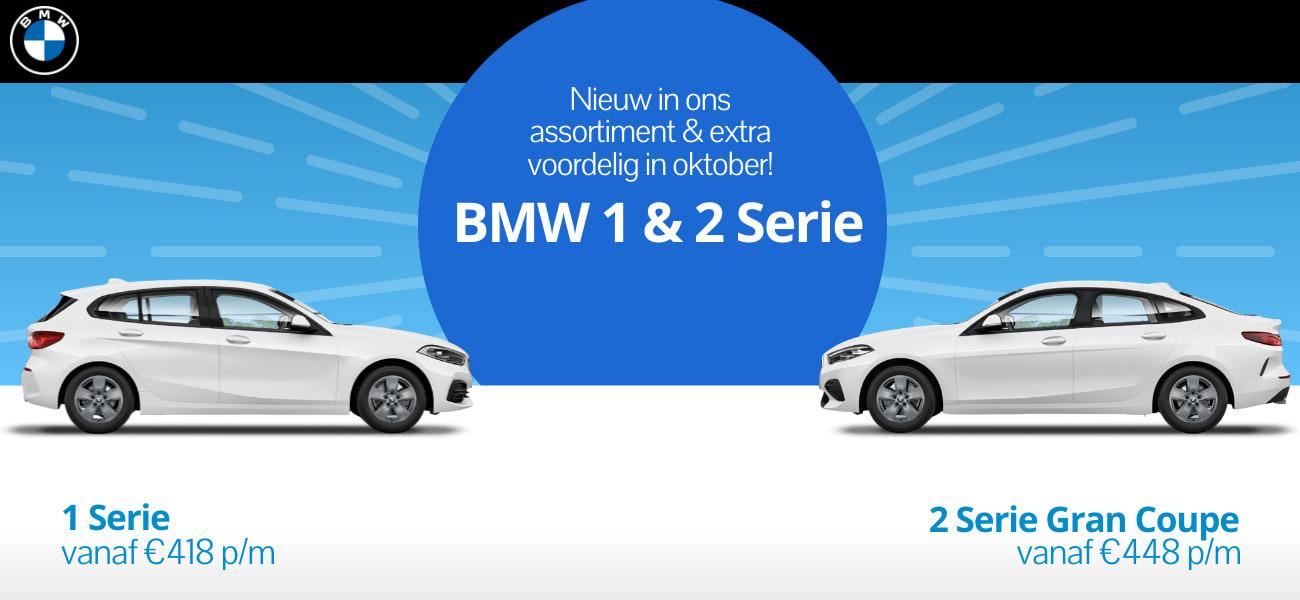 BMW actie! BMW 1 Serie en BMW 2 Serie Gran Coupe nieuw in ons assortiment.
