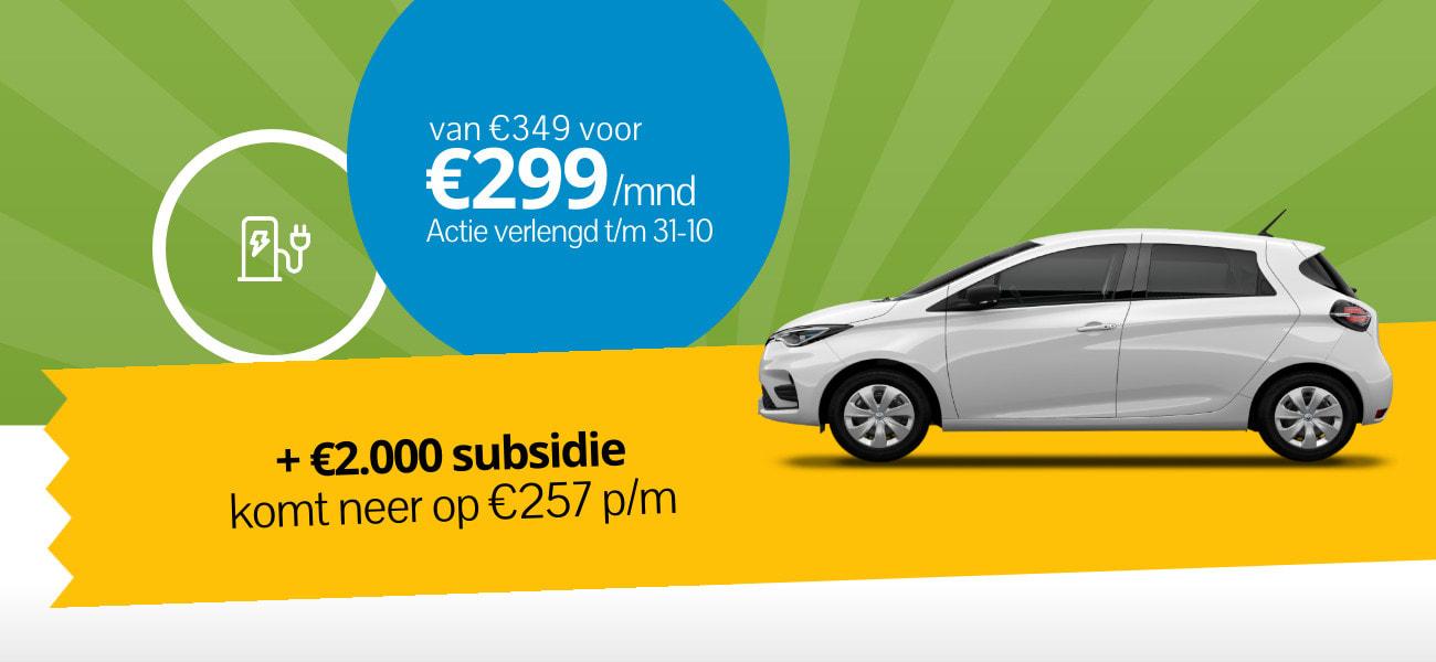 Subsidie elektrisch rijden Renault ZOE
