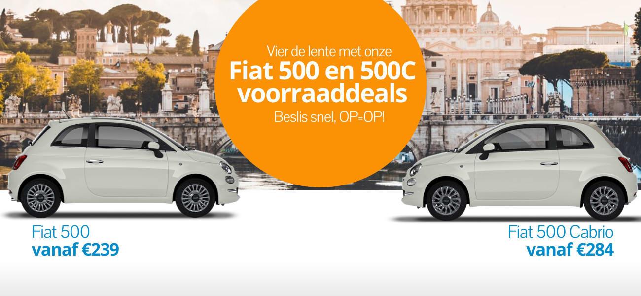 Fiat voorraaddeals! Met 2 tot 4 weken is de private leaseauto van jou.