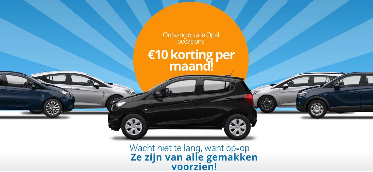 Opel occasion actie - tweedehands auto's met €10 korting