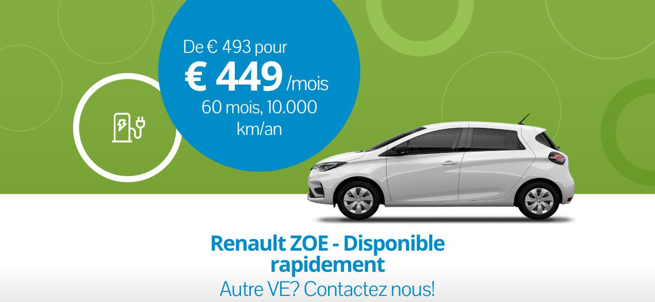 Renault ZOE - Disponsible rapidement