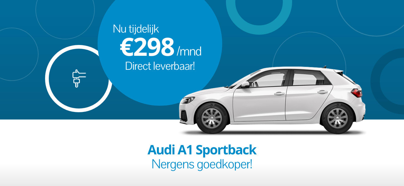 Audi A1 Sportback lease je nergens goedkoper