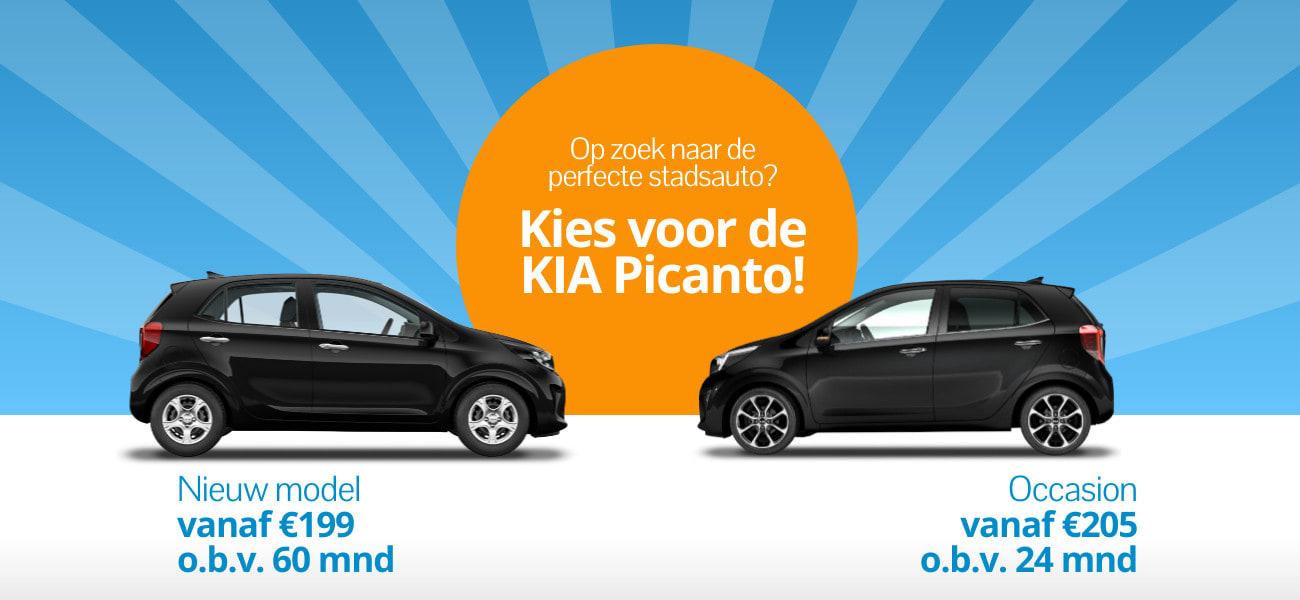 KIA Picanto private leasen? Kies voor een nieuw model of een occasion.