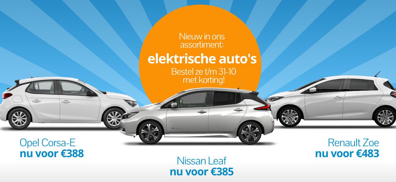 Elektrisch leasen Opel Corsa-E | Nissan Leaf | Renault ZOE