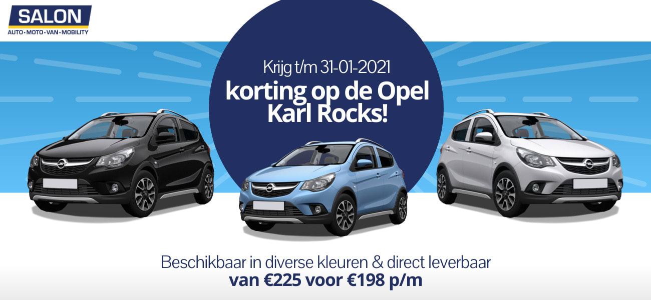 Autosalon 2021: Korting op de Opel Karl Rocks