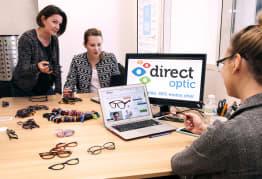 Réunion de travail chez Direct Optic :)