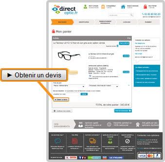 88ee483bdc0 Obtenir un devis sur direct-optic.fr pour un achat de lunettes en ligne