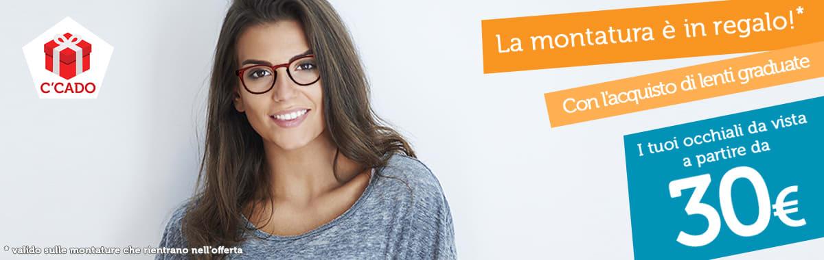 Montatura occhiali gratis