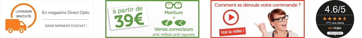 Les services proposés par Direct Optic, votre opticien en ligne
