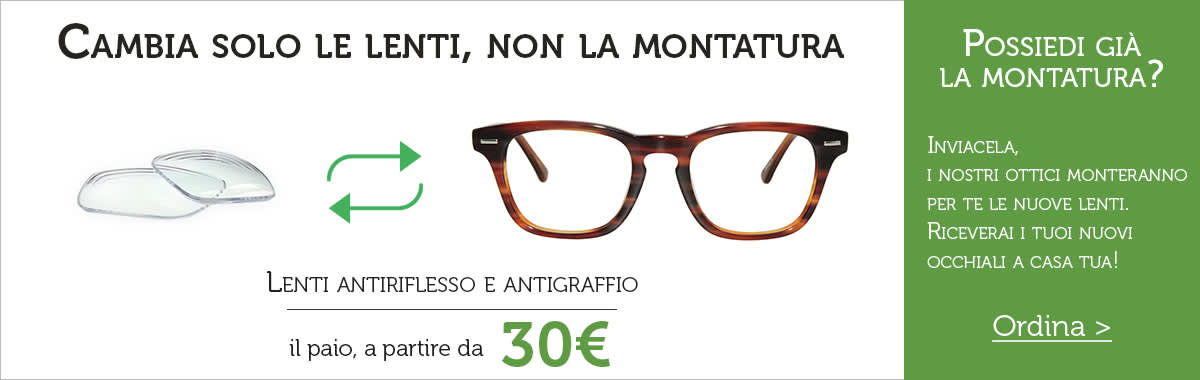 Cambian lenti occhiali online